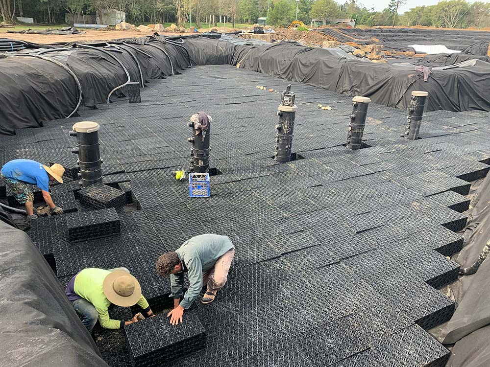 building a lake filtration