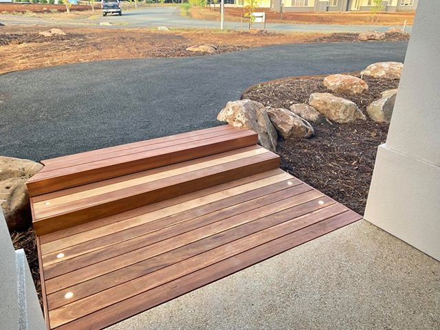 Natural rocks with decking