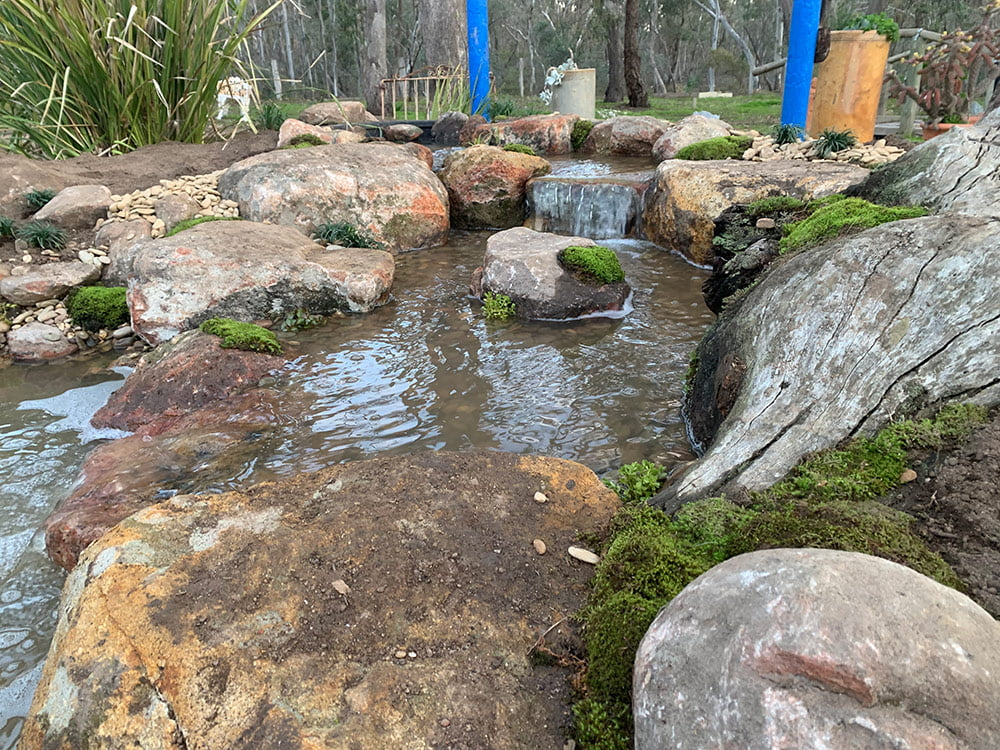 Waterfalls for a medium pond
